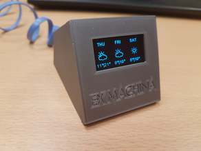 Desktop widget - Wemos D1 mini (Clock, Weather forecast)
