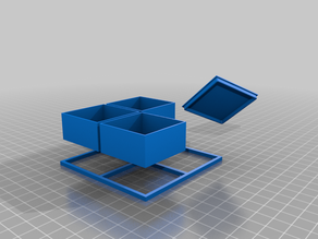 Modular Small Parts Storage Container Box