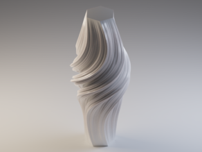 Fractal Flake Vase