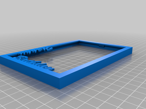 Picture Frame 10 x 15 cm with text - customizaiton of text possible in FreeCAD
