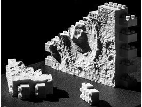 Montini NASA Mars Gale Crater Wall Set (Lego Compatible)