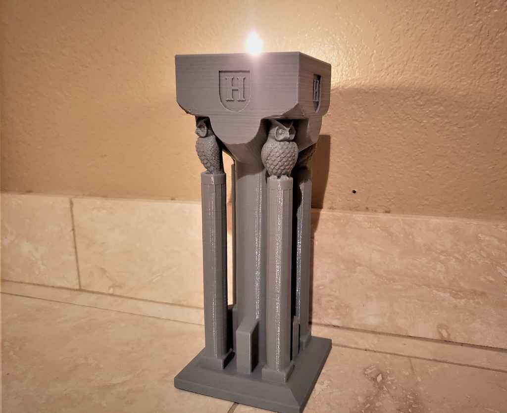 Hogwarts flaming torch candle holder