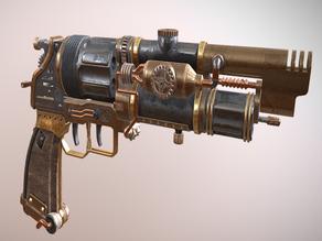 Steampunk Revolver Gun V2