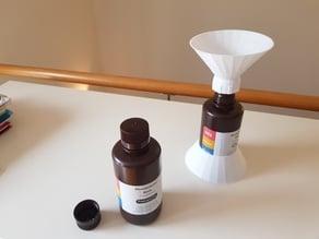 Funnel and bottle base for Elegoo resin