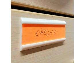 Stickable label holder