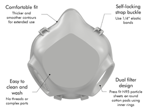 GEMINUS Dual Filter COVID-19 Coronavirus Face Mask V2