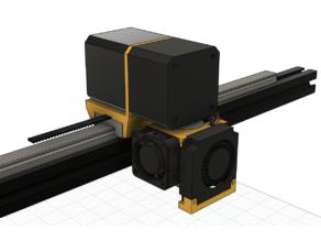 Direct Drive Extruder Mount for MGN12H (Titan, BondTech, E3D V6)