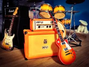 Orange Amp And Cabinet Miniature