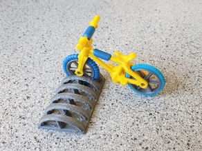 Playmobil bicycle tire and wheel repair
