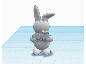 Cute Bunny Name Tag Customizable