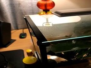 Fluval Spec 5 Aquarium Glass Lid Rails Mod