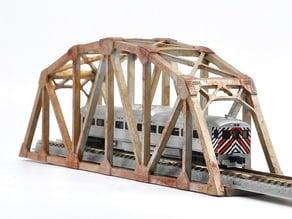 Warren Truss Bridge in Z Scale