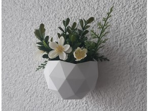 Low poly hanging flower pots