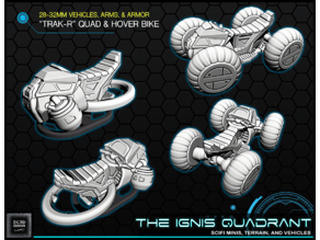 """TRACK-R"" quad & hoverbike - 28-32mm gaming - The ignis Quadrant"