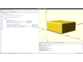 Rounded box module for openscad