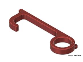 GB 3D - Hands Free - Door Pull Opener - Button Press - Door Open