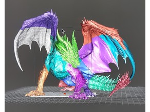 MHW: Red Dragon - Safi Jiiva by PittRBM sectioned for Resin Printing