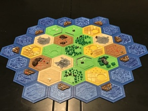 Complete Catan Tile Set - Single Nozzle, Multi-color Layers