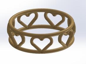 7 Heart Ring Delicat Love & chance