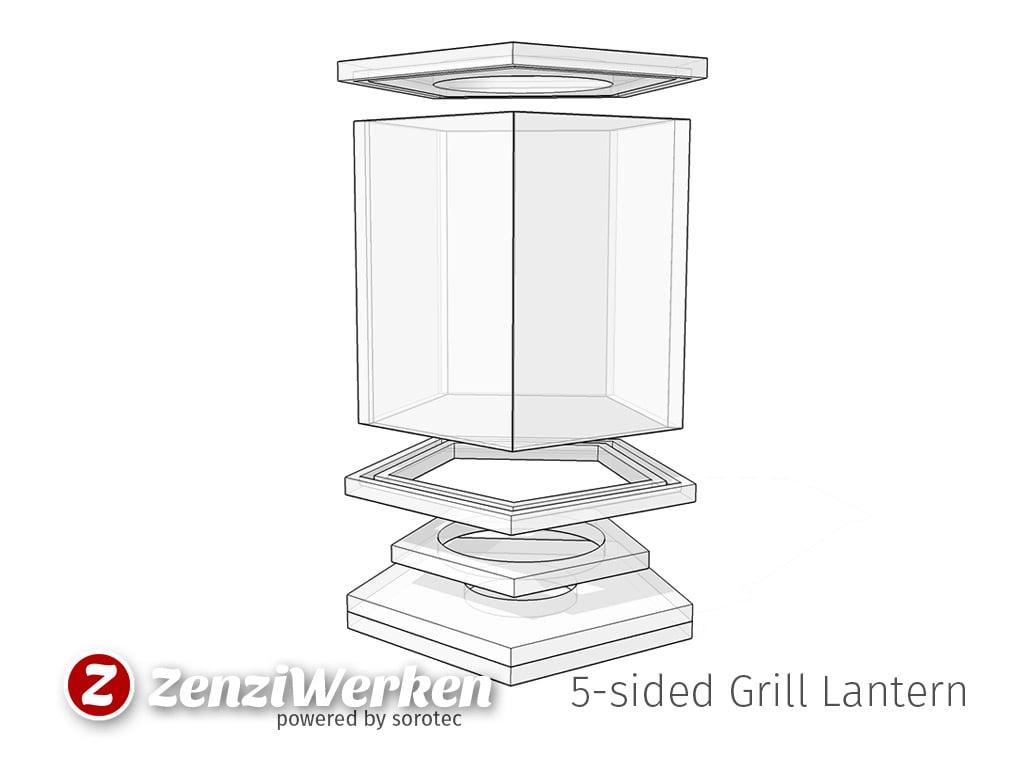 5 sided grill lantern cnc laser by zenziwerken thingiverse