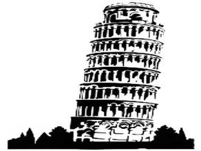 Leaning Tower of Pisa stencil