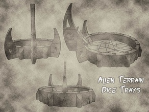 Alien Terrain Dice Trays for Warhammer 40k, Dungeons & Dragons or Tabletop Games