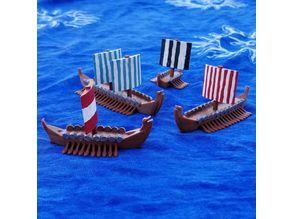Viking Long Ships for Ortus Novae: Trireme