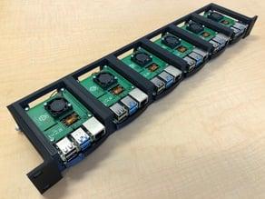 Raspberry Pi 4 1U rack-mount bracket