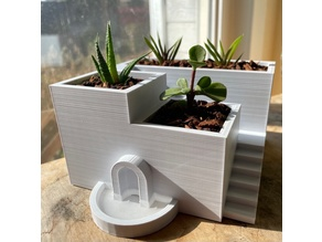 Santorini Succulent Planter (w/ drains that fill pool!)