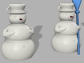 Snowman - Schneemann - supportless