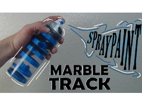 Spray Paint Can Marble Track!