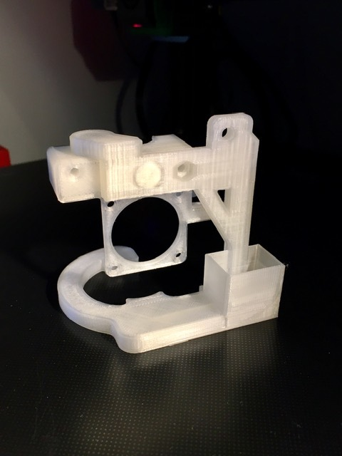 E3D V6 Hot End Mount and Fan Duct