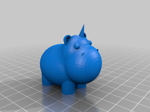 Hippo Unicorn Bath Toy
