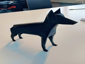 Lowest Poly Dobermann Dog