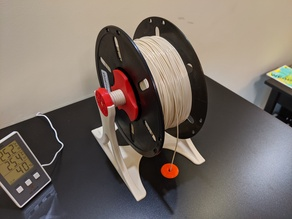 Spool Holder with 3D printed Gear Bearings optimised for an Enclosure
