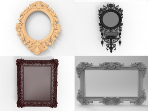 Baroque Picture Frame PACK 02 (i  update it weekly)