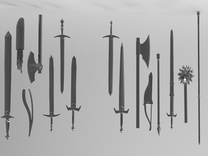 Swords and weapon collection for remixes