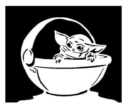 Baby Yoda stencil 4