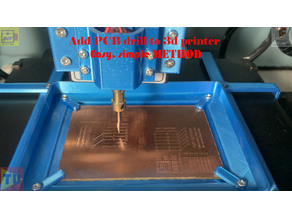 Add PCB drill and holder to 3d printer