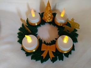 Christmas Wreath - Adventskranz
