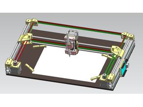DIY DAYU corexy Drawing Robot ,Writing machine