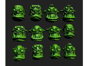 Space Orc goggle head add on pack