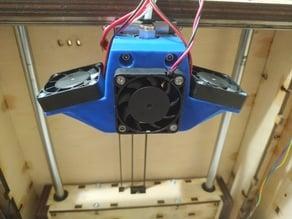 E3D v6 Hotend - 40mm Fan Duct + 2 sides 40mm fan duct