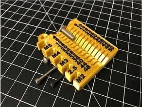 Metric screw measuring device - M2/2.5/3/4/5 4-50mm - repost