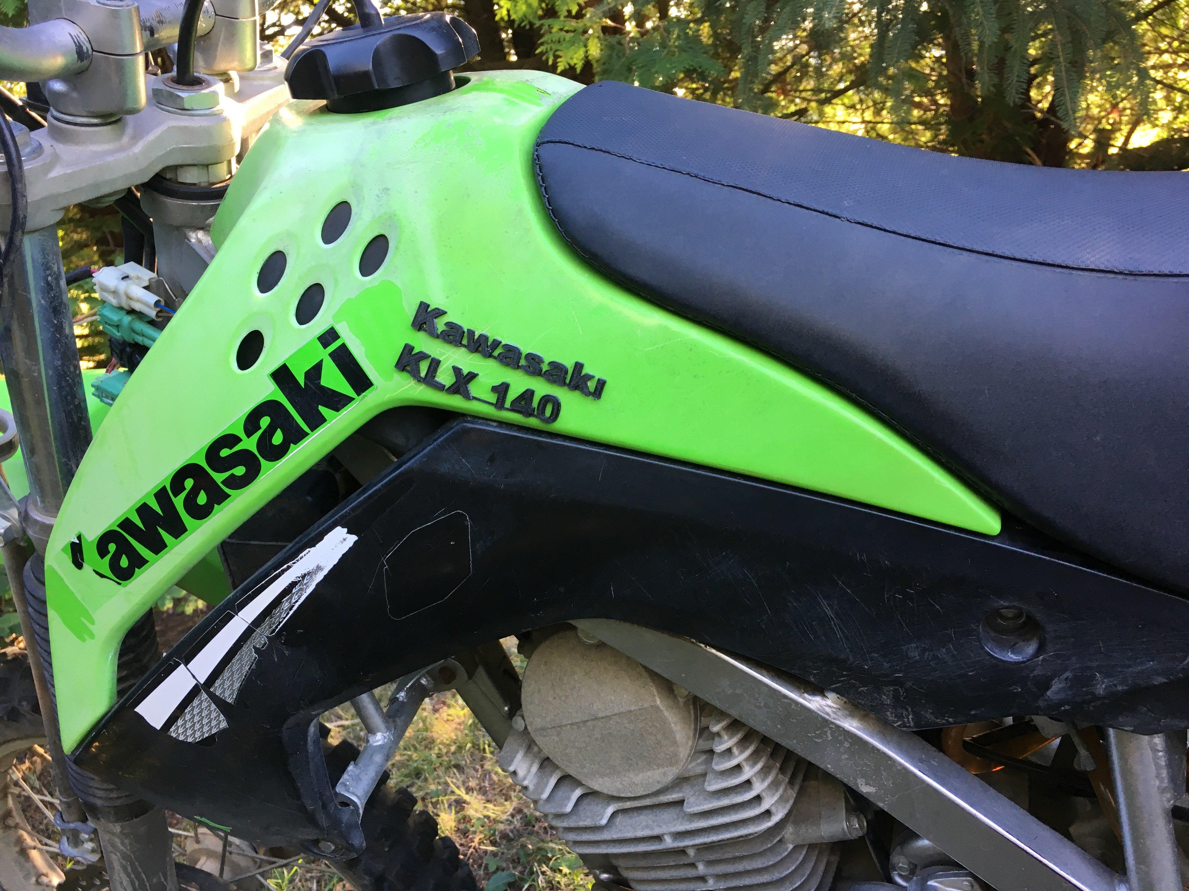 Kawasaki Labels for KLX 140 Dirt bike