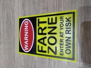 Warning Sign - Fart Zone
