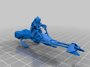 Ewok Speeder Bikes (star wars legion scale)