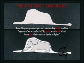 The Little Prince Boa Fridge Magnet