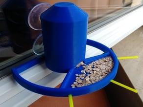 Window mounted bird feeder