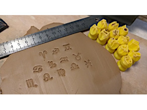 Pottery stamps set - Zodiac signs